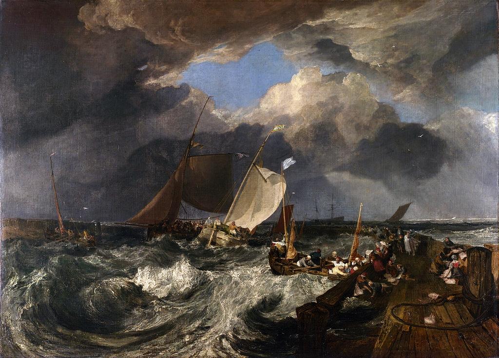 Calais la jetee par turner 1803