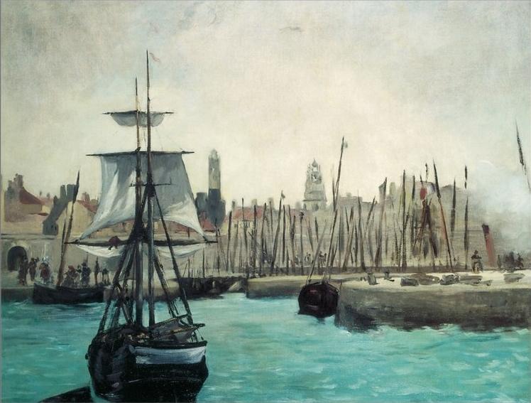 Calais le port par manet