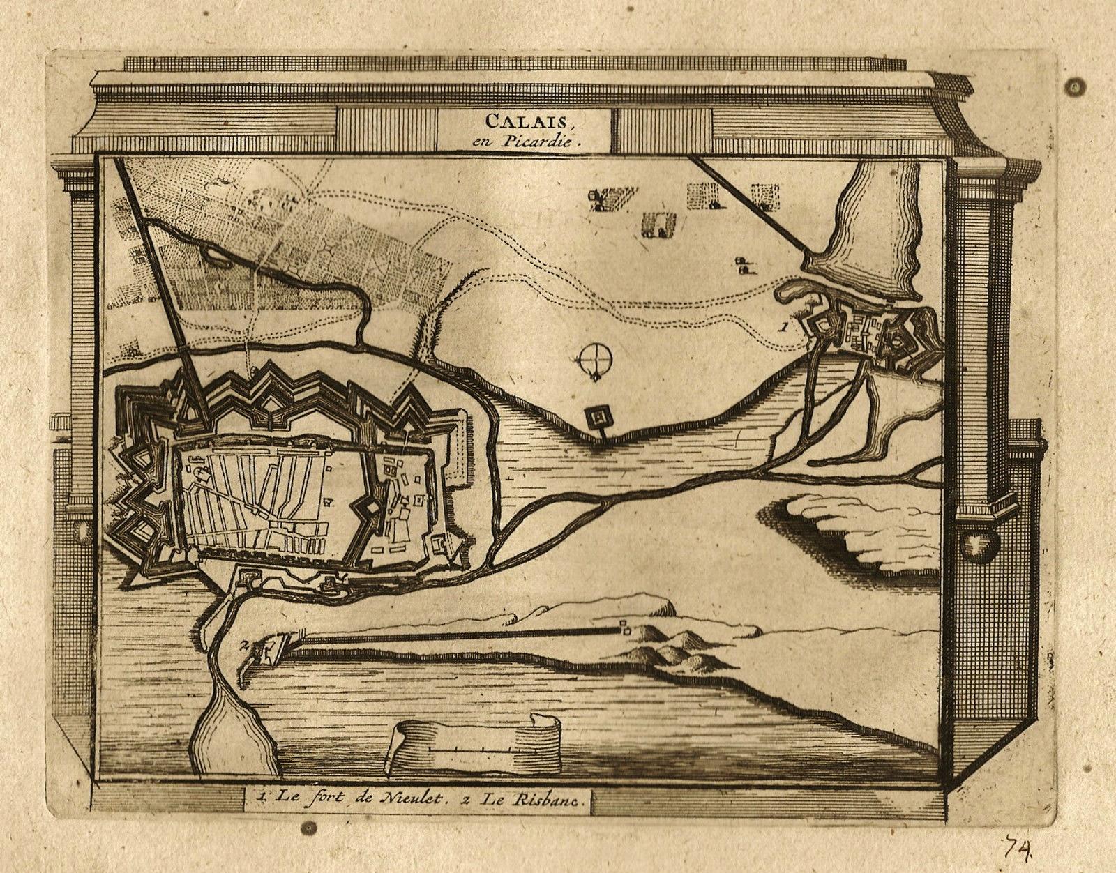 Calais picardie carte du fort nieulay