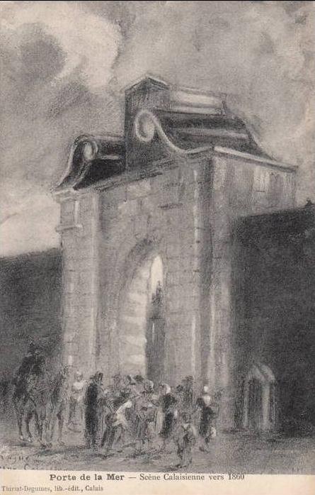 Calais porte de la mer 1860