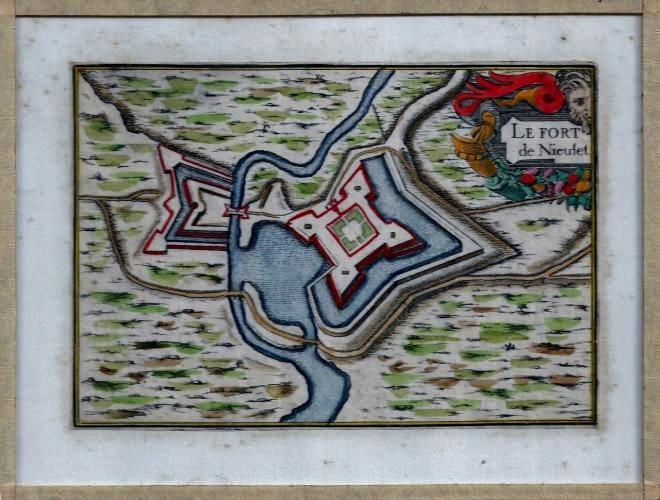 Carte calais le fort nieulay au 17 eme siecle par tassin